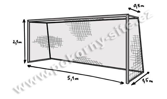 NOGOMETNA MREŽA JUNIOR 3mm - 0,8/1,5 m